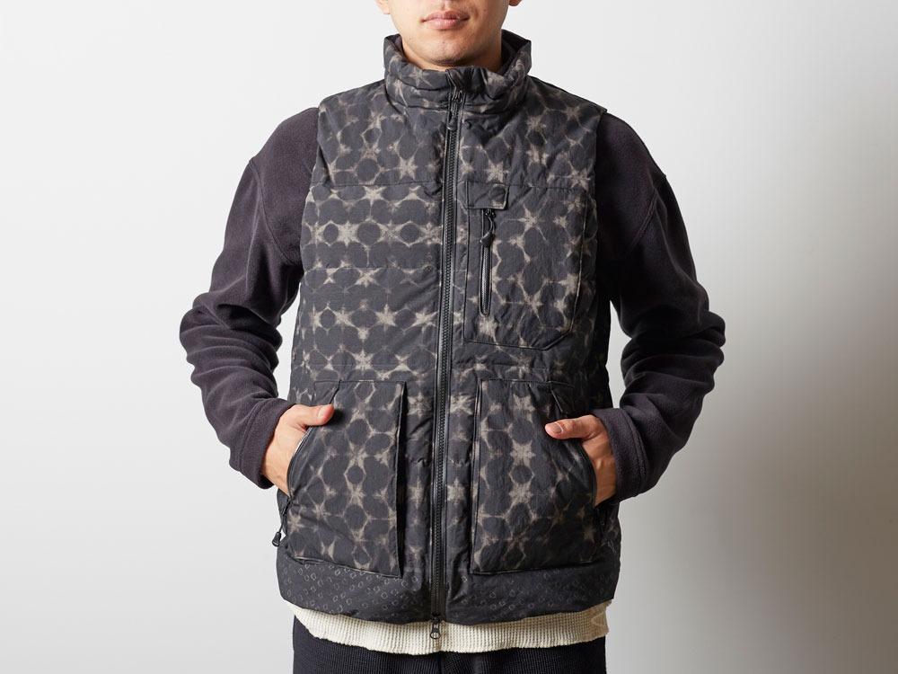 Indigo C/N Down Vest Print M Black10