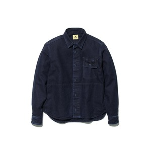 オカヤマ オックス ワークシャツ インディゴ L