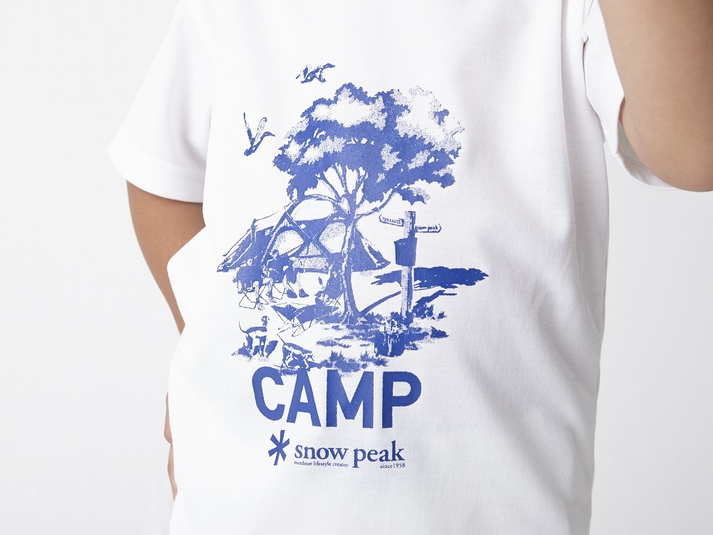 Kid's Printed Tshirt:Camp Field 1 Navy4