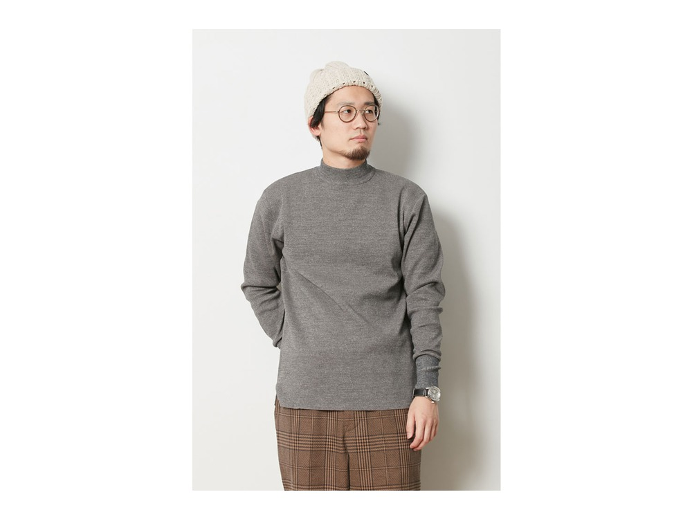Wool Linen/Pe Turtlneck Long Sleeve L OMMD