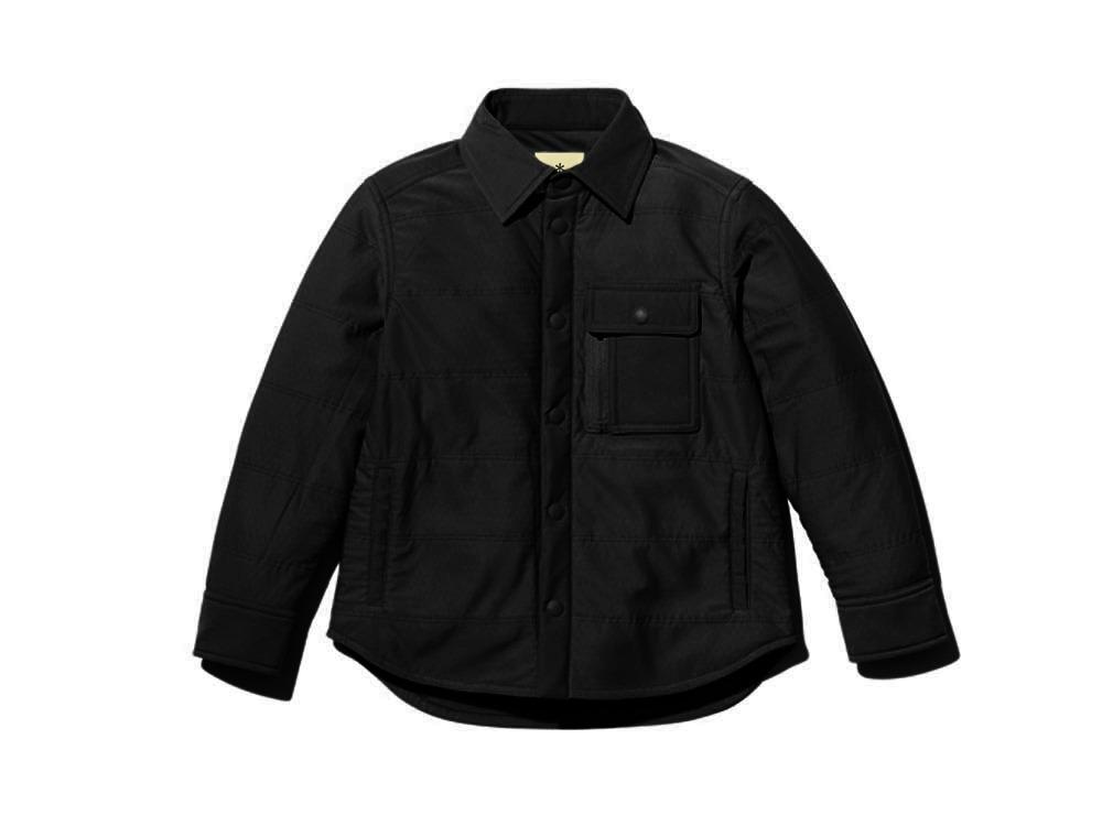 キッズ フレキシブルインサレーションシャツ 1 ブラック