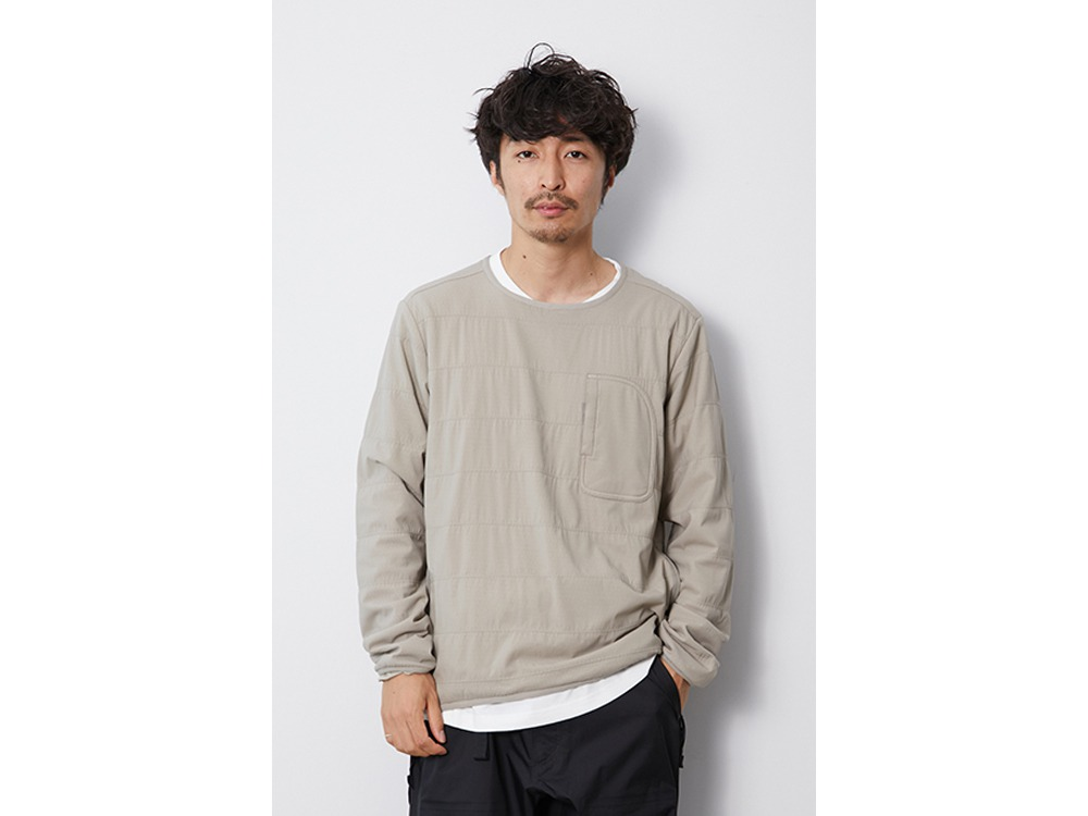 Flexible Insulated Pullover M Beige