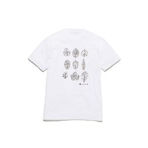 キッズグリーンリーフプリントティーシャツ