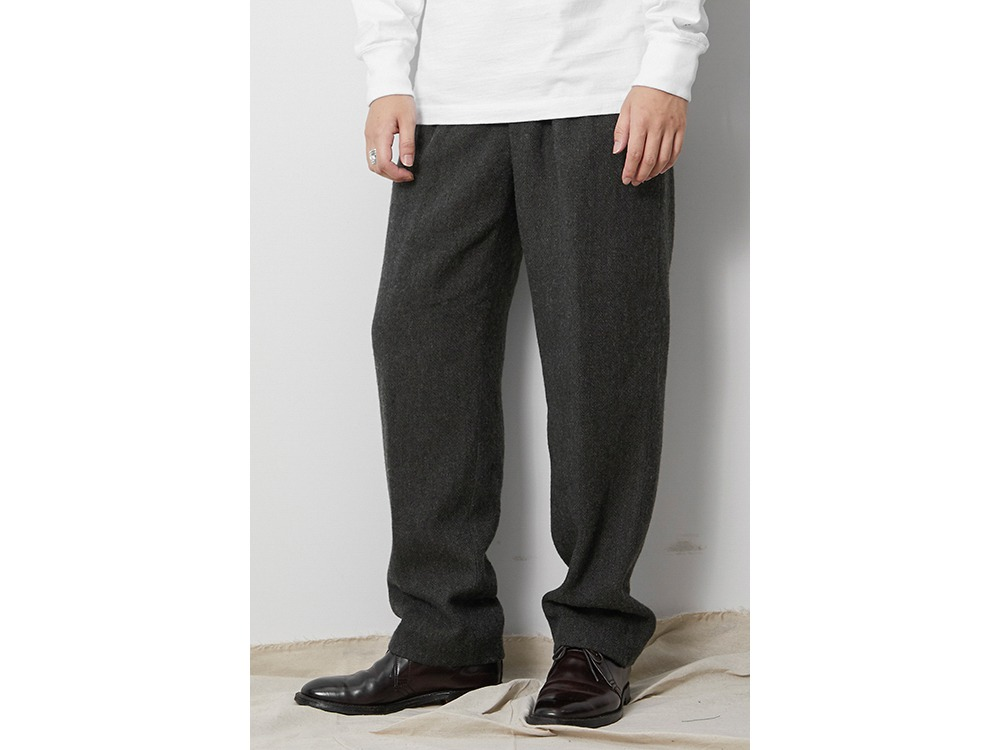 Wo/Li Herringbone Tweed Pants M MGR