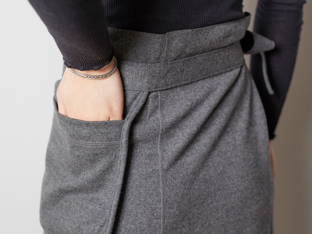 Wool Tight Knit Skirt 3 Olive7
