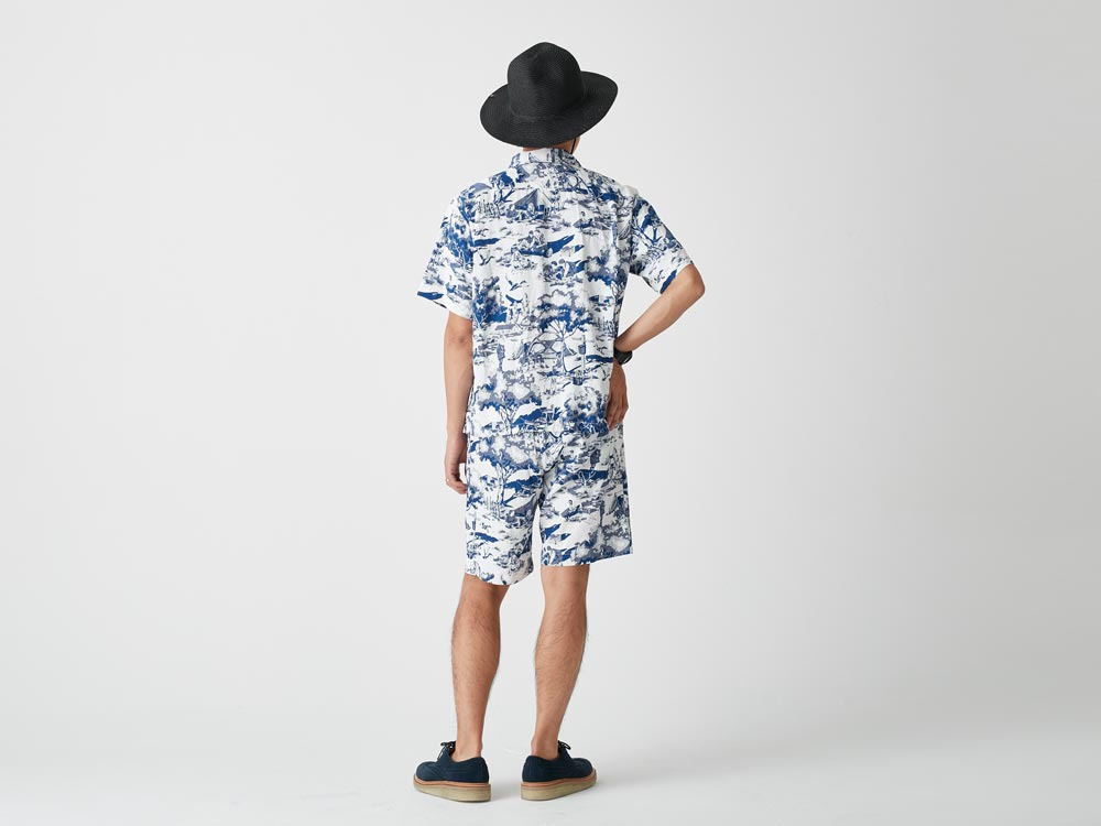 Camp Aloha Shorts 1 White3