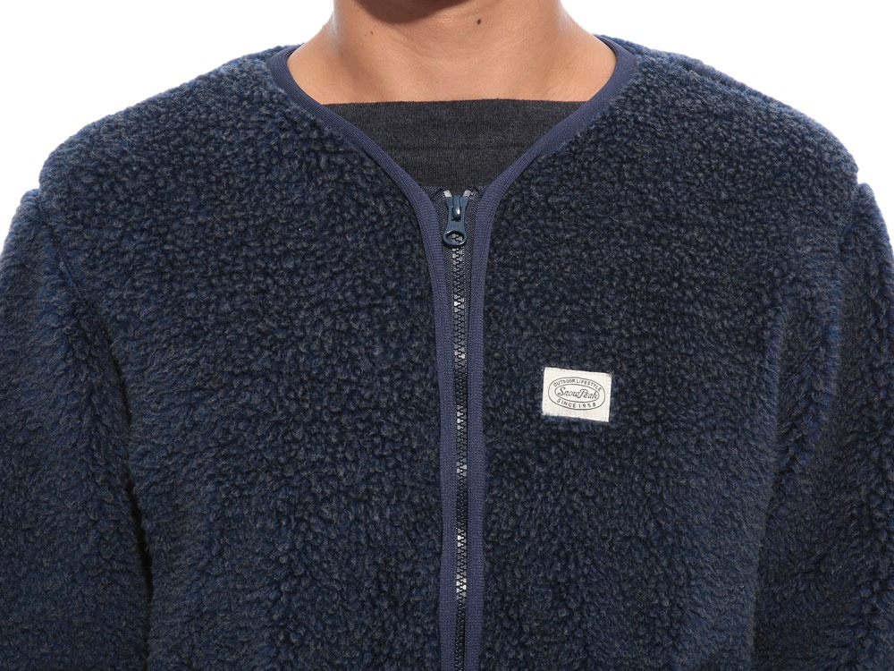 Soft Wool Fleece Jacket S Blue5