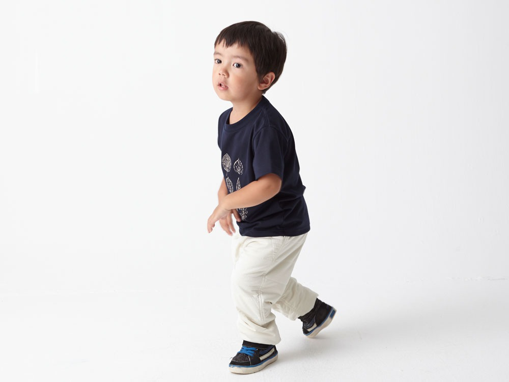 Kid's Printed Tshirt:Greenleaf 3 Navy3