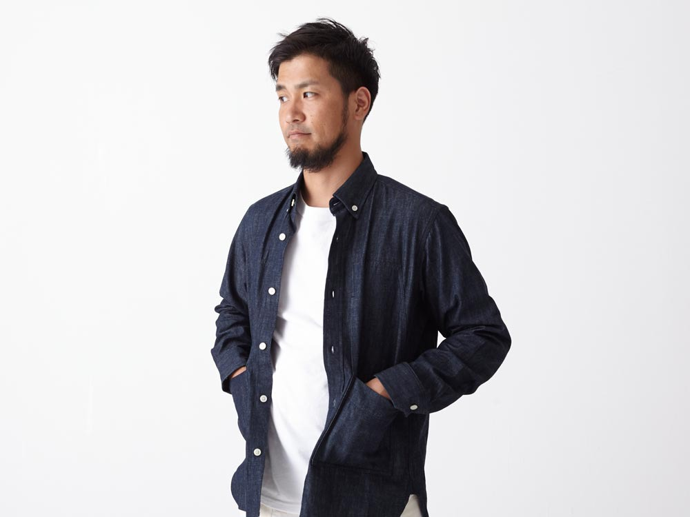 Dungaree Field Shirt  M Indigo4