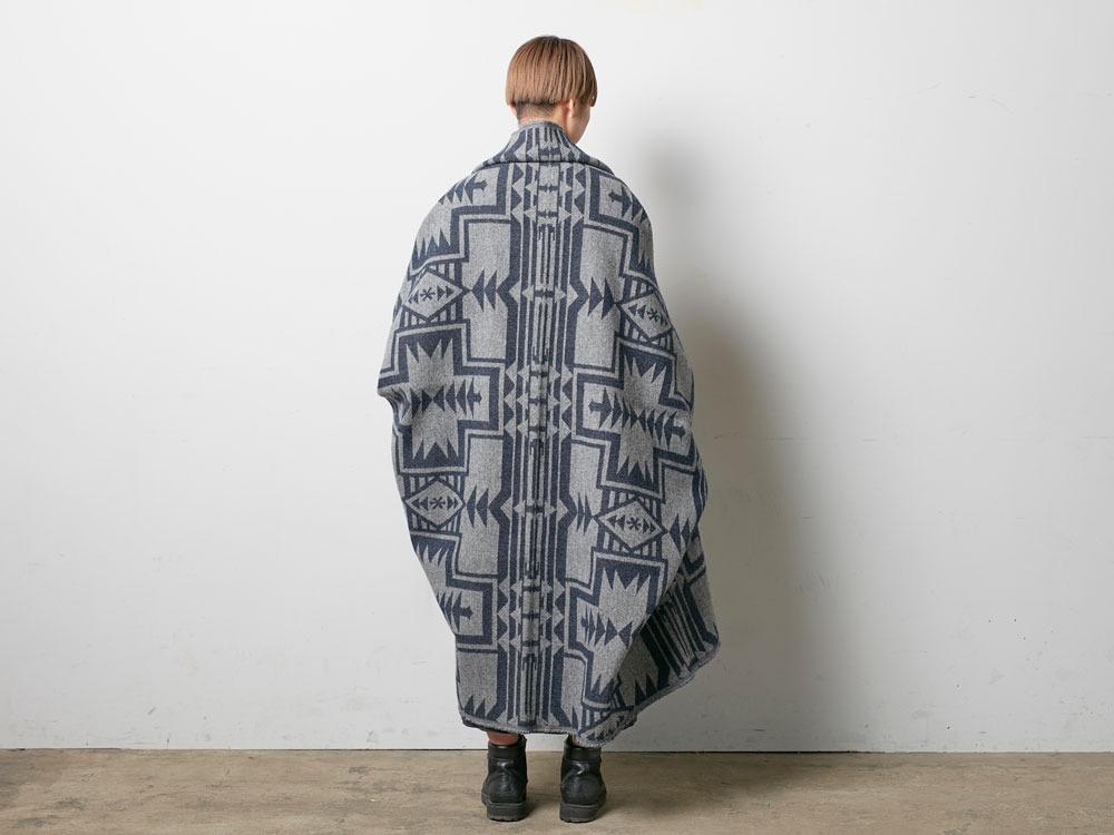 Shetland Wool JQ Blanket Navy2