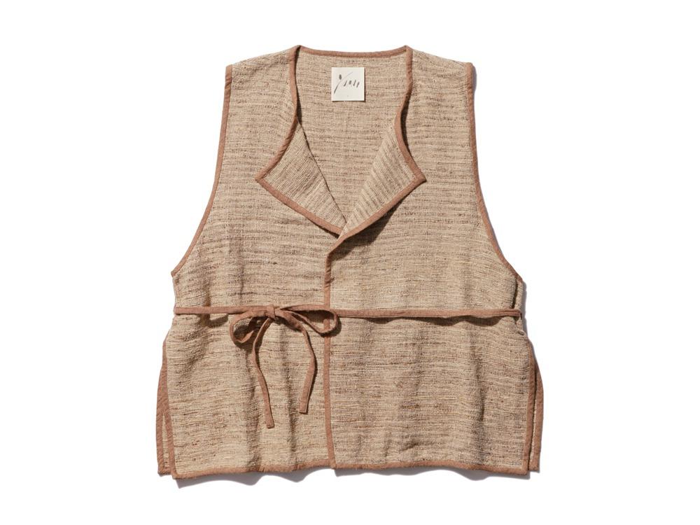 Hand-woven Wild Silk Tussah Vest 1 NT