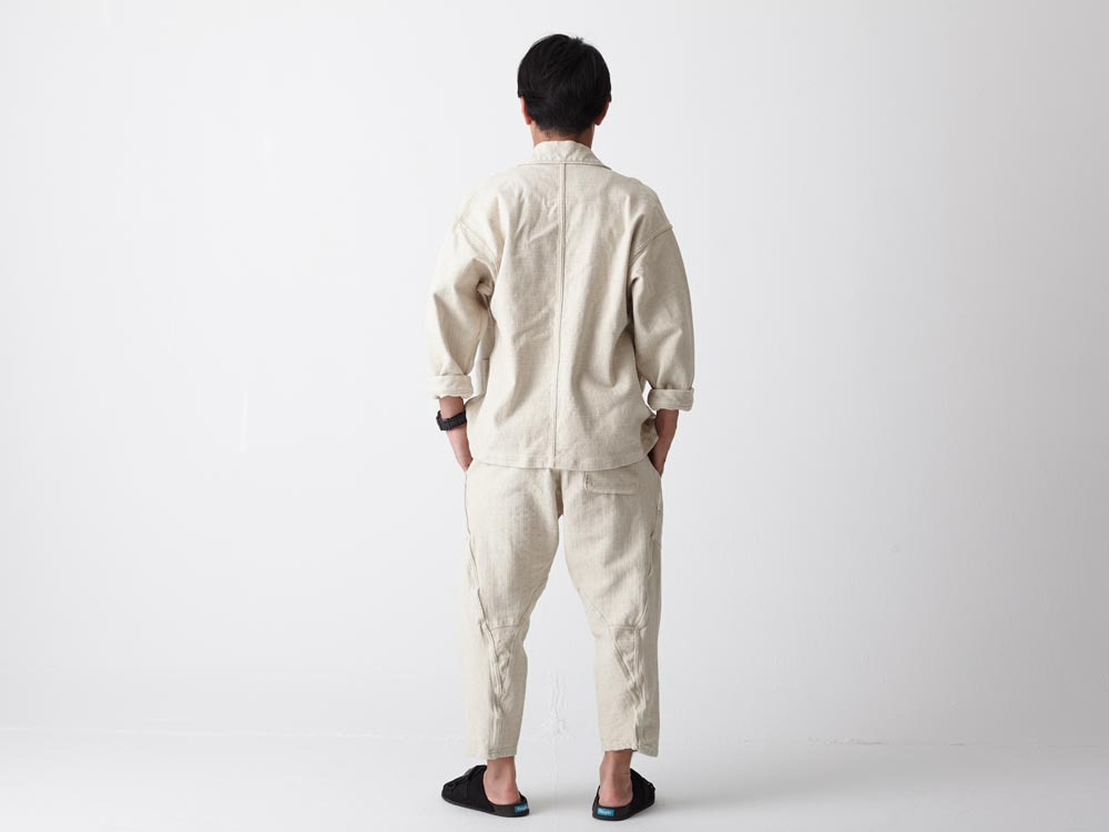 Linen HAORI Jacket S Ecru3