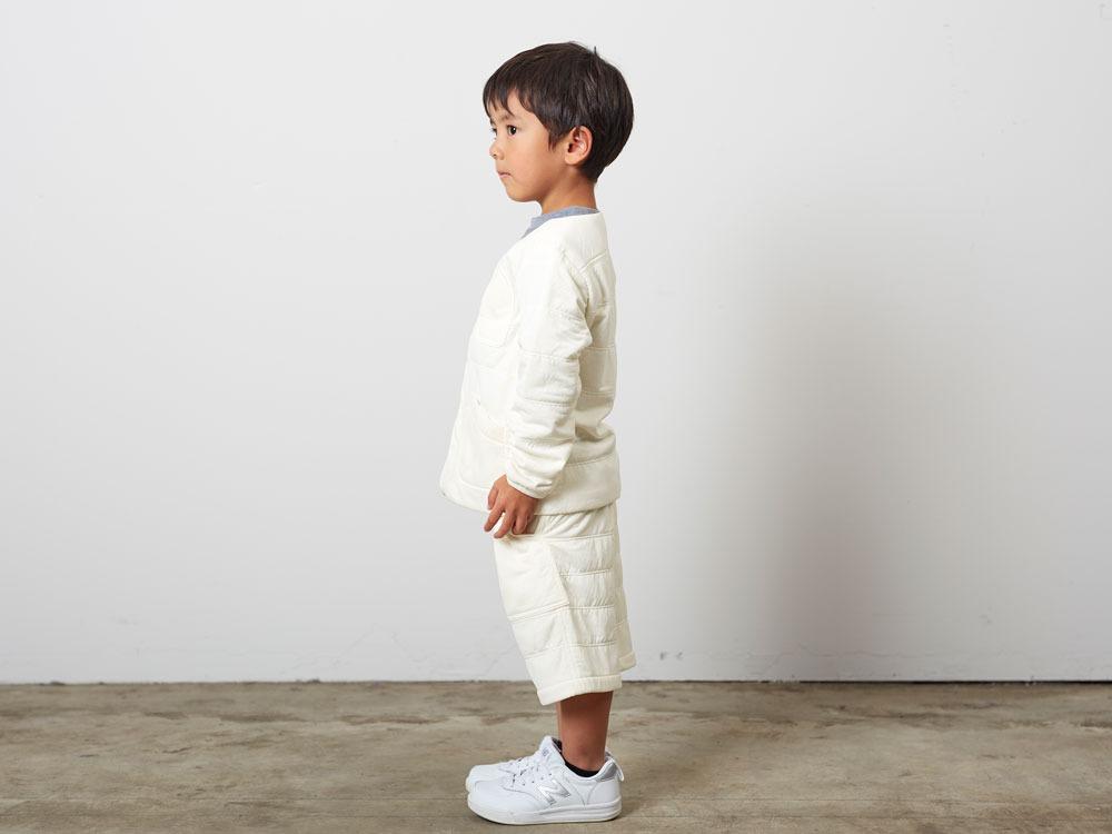 KidsFlexibleInsulatedCardigan 1 White2