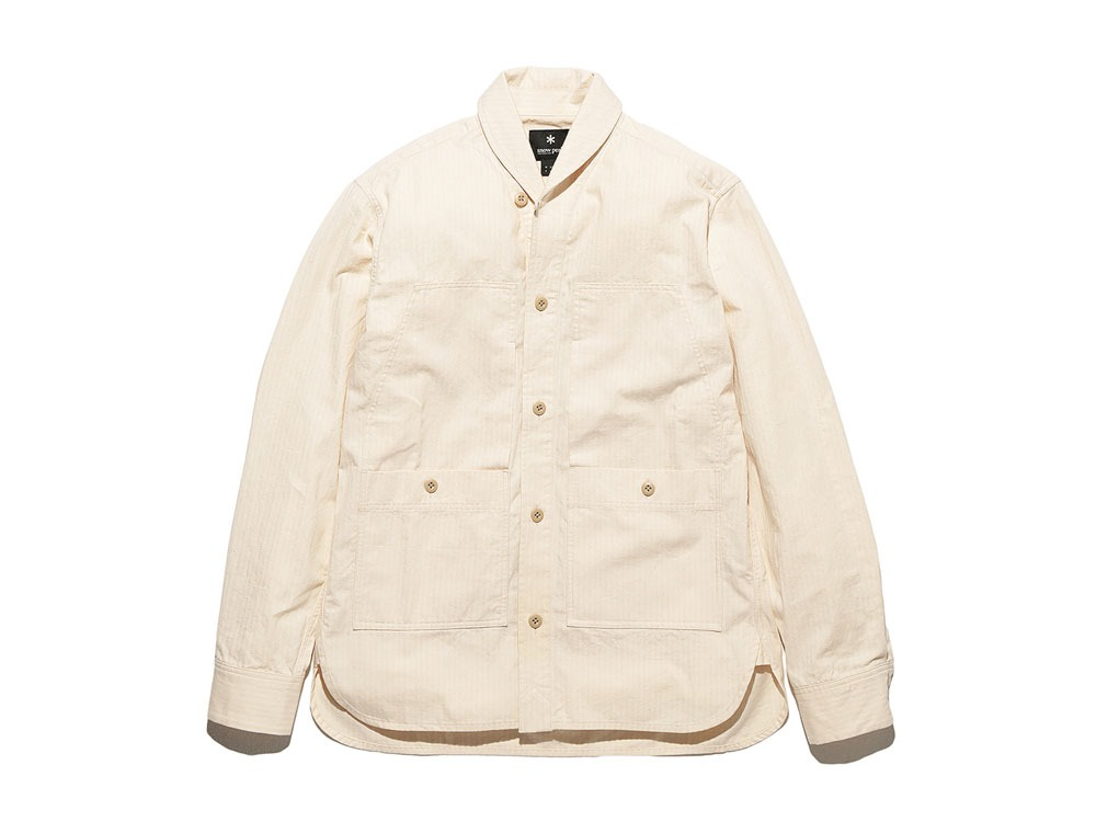 Herringbone Field Shirt 2 Ecru0