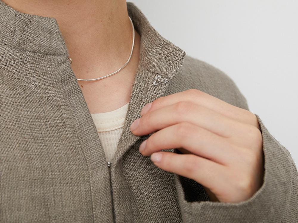 Hand-woven Wild Silk Jacket 1 Ash