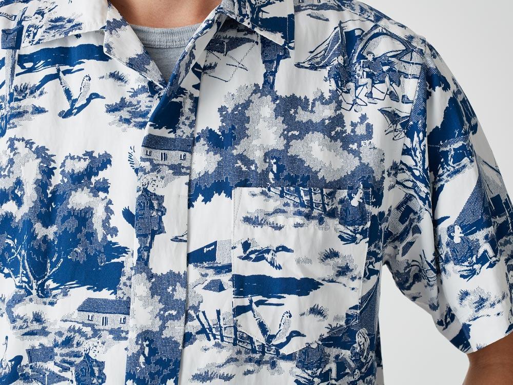 Camp Aloha Shirt M Olive5