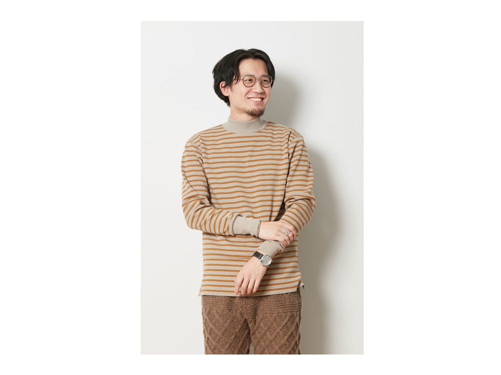 Wool Linen/Pe Turtlneck Long Sleeve L BRWH