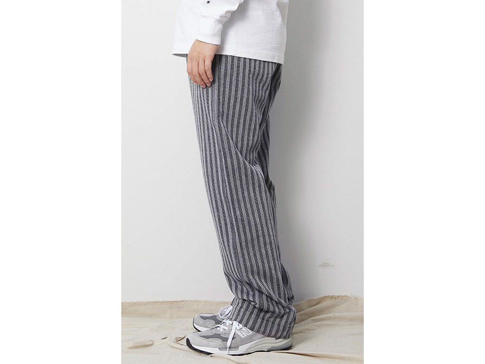Cotton Herringbone Stripe Wide PT M BG