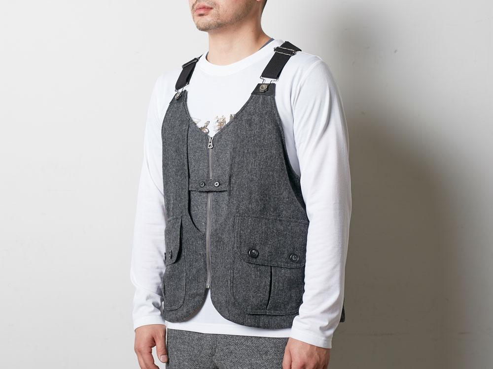 Wool TAKIBI Vest M Grey5