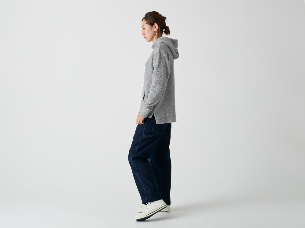 Long Loop Sweat Hoodie 2 Navy2