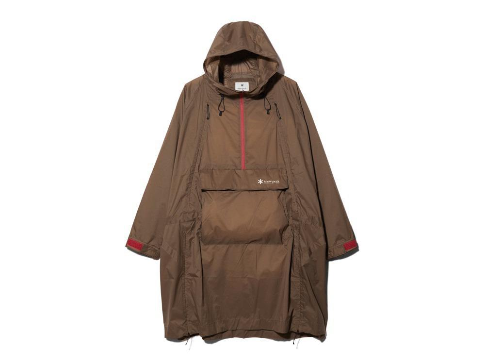 Rain&Wind Resistant Poncho 2 Brown
