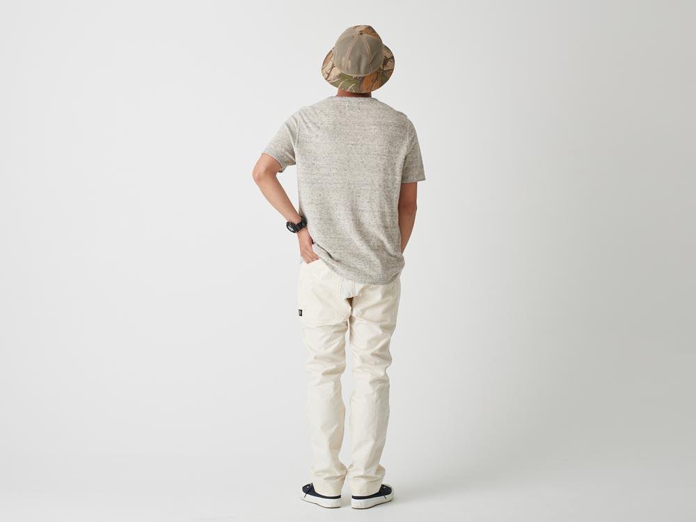 Linen Pile Tshirt L Grey3