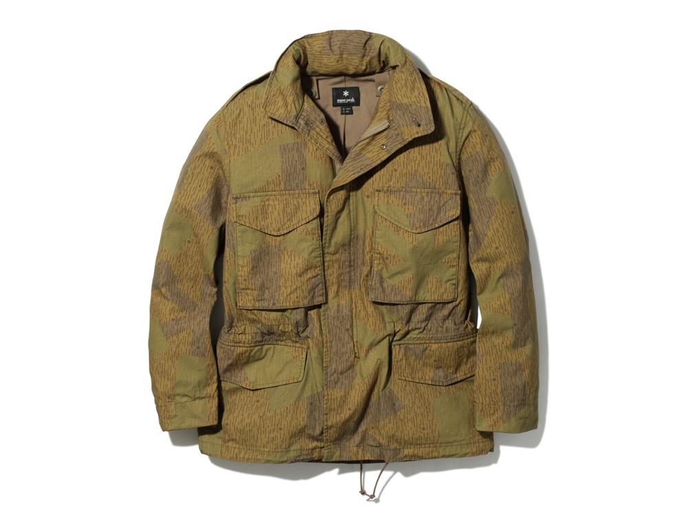 Printed Military Jacket L Khaki0