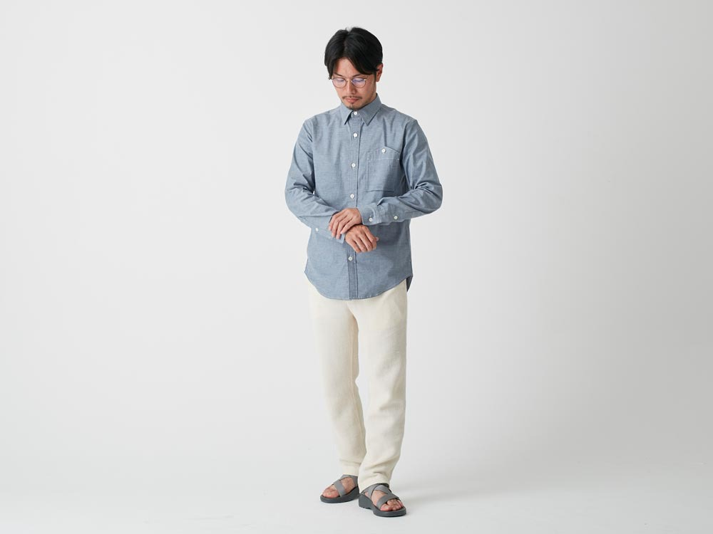 Stretch OX Shirt 2 Blue1