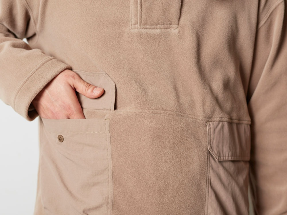 R/Pe Fleece Pullover M Brown6