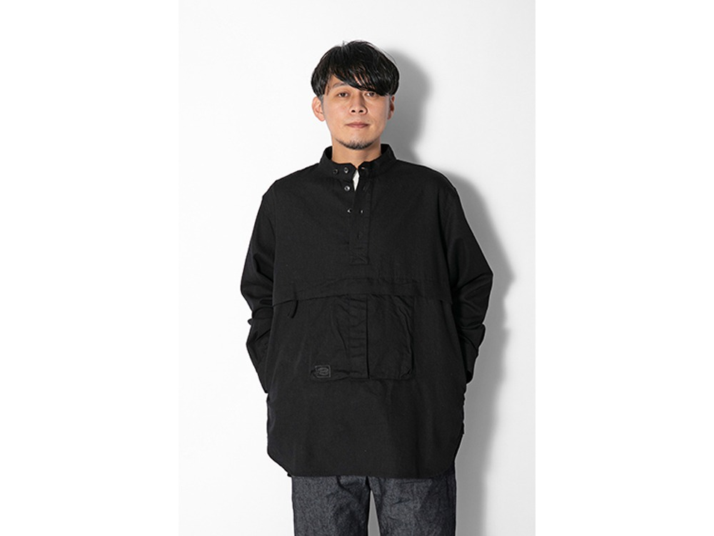 TAKIBI Light Denim Utility Pullover MEcru