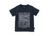 キッズクイックドライティーシャツ (コントゥールプリント)  4 ネイビー