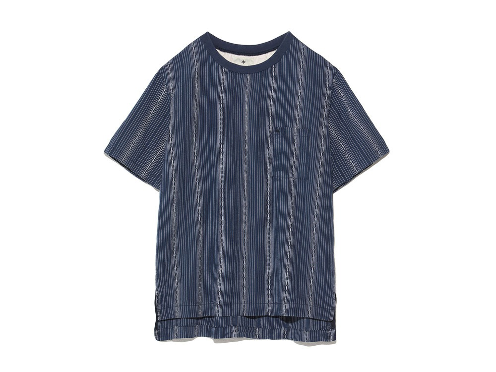 Dobby Striped Pullover S Navy0