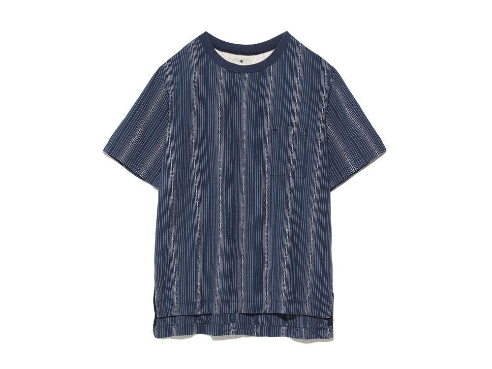 Dobby Striped Pullover M Navy0