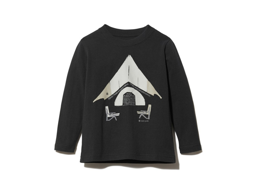 Kids Relaxed Camping Printed Tee 3 BK