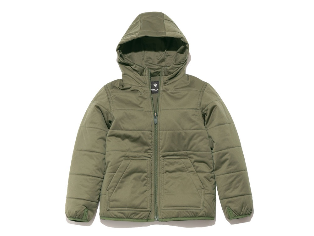 Kids Flexible Insulated Hoodie1Olive