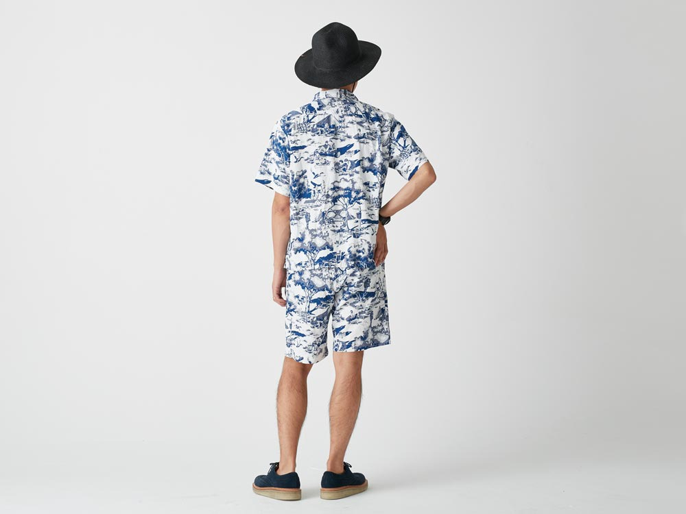 Camp Aloha Shirt M Olive3