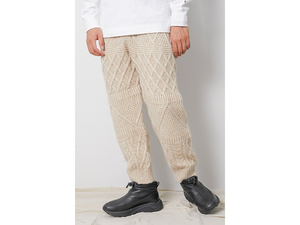 Alpaca Knit Pants S Grey
