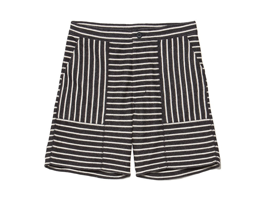 C/L Striped Shorts XL Navy x Ecru0
