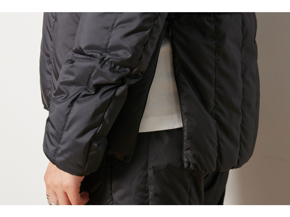 Recycled Middle Down Jacket XL Black