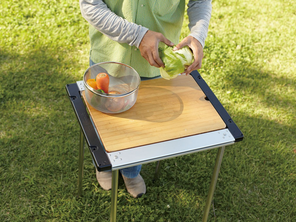 Iron Grill Table Wood Table W Bamboo2