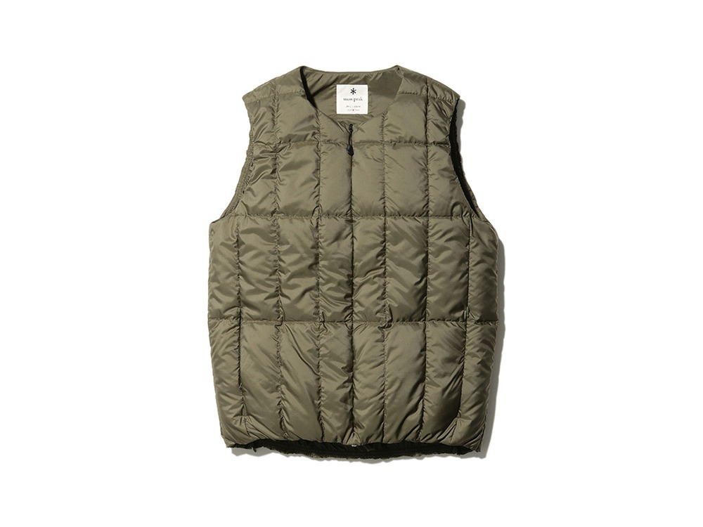 Recycled Middle Down Vest S Olive