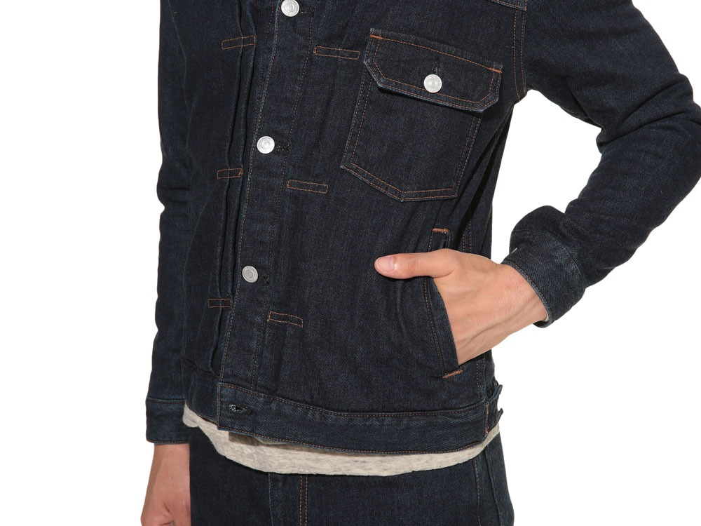 Pile Denim Jacket S Hard Wash6