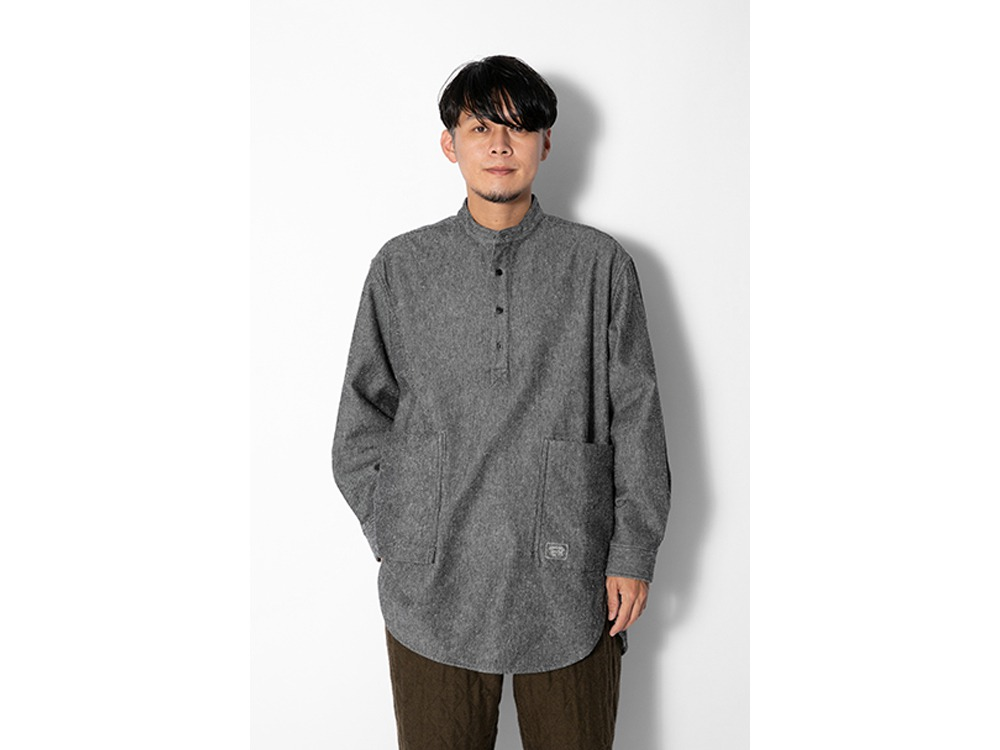 Camping Flannel Utility Pullover MBrown