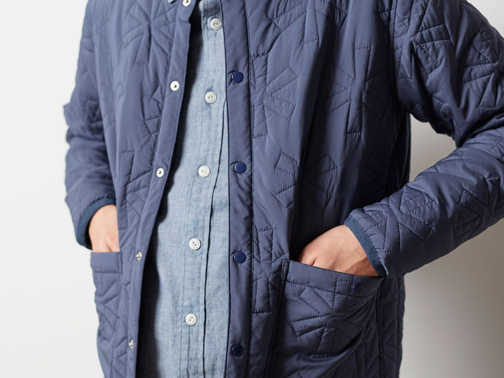 Quilting puff Jacket L Navy6