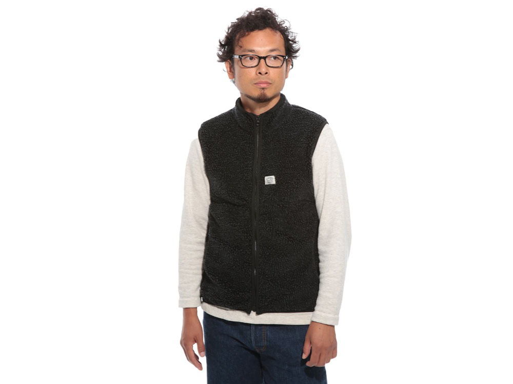 Soft Wool Fleece Vest L Olive2