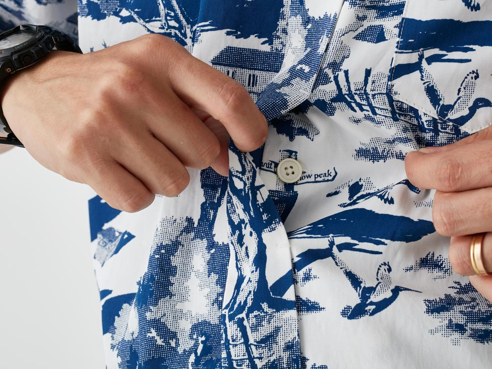 Camp Aloha Shirt M White6