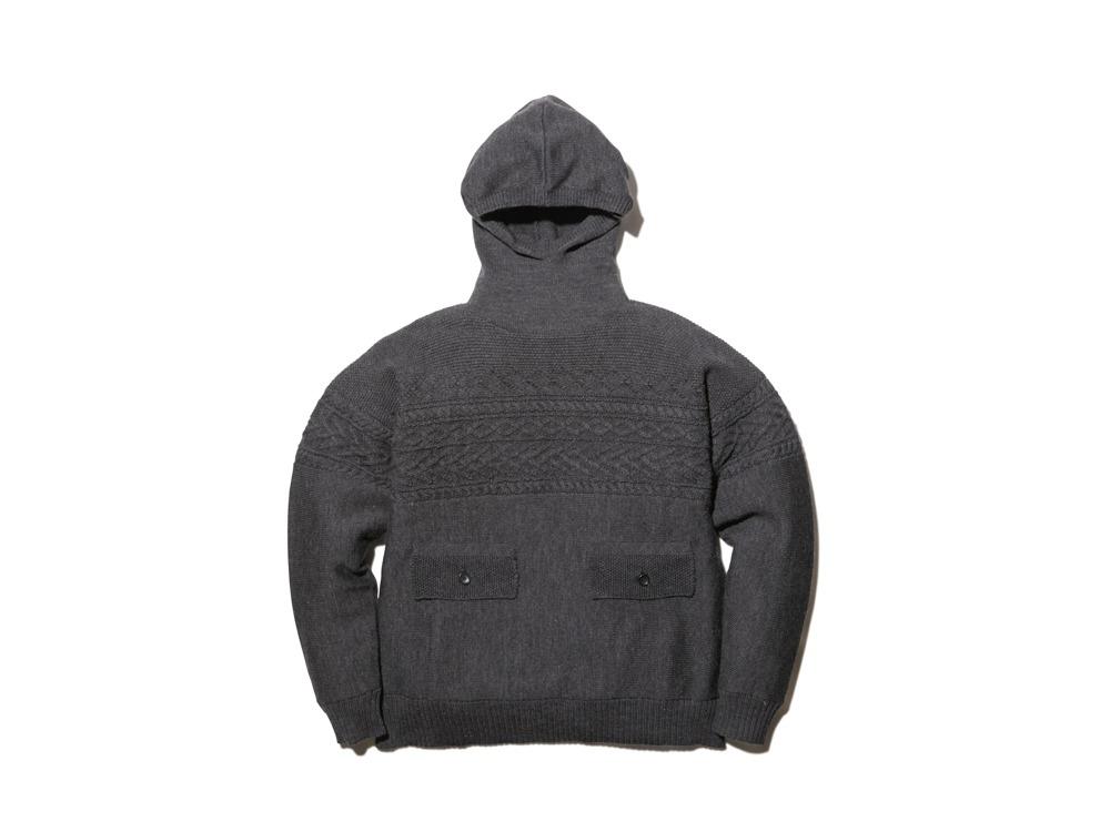 Shetland Guernsey Knit Parka XL CH