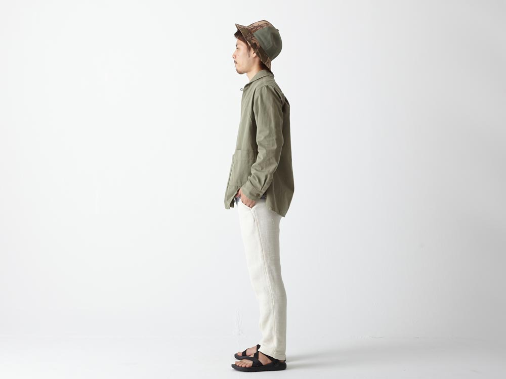 Herringbone Field Shirt M Olive2