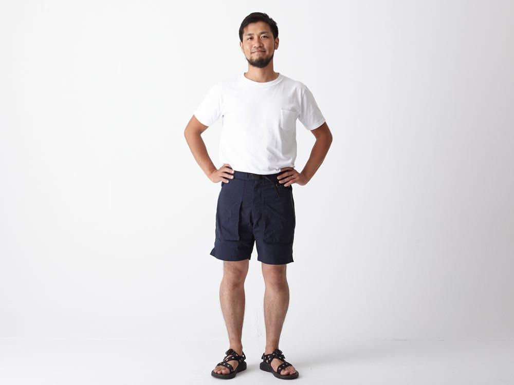 Indigo C/N  Anorak Shorts LIndigo1
