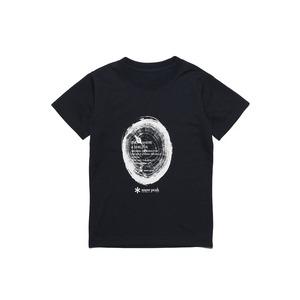 キッズウッドカットプリントティーシャツ